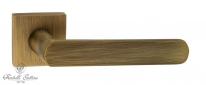 "Ручка дверная на квадратной розетке Fratelli Cattini ""NEVADA"" 8-BY матовая бронза"