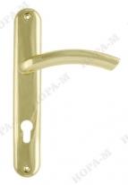 Ручка дверная на планке под цилиндр Нора-М 96-85 мм (Золото)