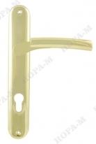 Ручка дверная на планке под цилиндр Нора-М 99-85 мм