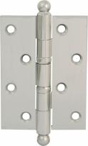 Петля дверная универсальная Melodia 522 A Полированный хром 102х75х2,8 мм
