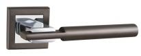 Ручка дверная на квадратной розетке Punto City QL GR/CP-23 графит/хром