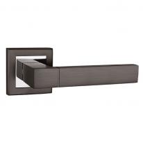 Ручка дверная на квадратной розетке Punto Style QL GR/CP-23 графит/хром