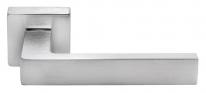 Ручка дверная на квадратной розетке Morelli Luxury, (Horizont/Горизонт) Csa  Хром матовый