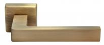 Ручка дверная на квадратной розетке Morelli Luxury, (Horizont/Горизонт) Caffe  Кофе