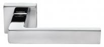 Ручка дверная на квадратной розетке Morelli Luxury, (Horizont/Горизонт) Cro  Хром