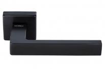 Ручка дверная на квадратной розетке Morelli Luxury HORIZONT-SQ NERO (Горизонт) Черный