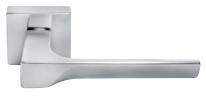 Ручка дверная на квадратной розетке Morelli Luxury, Fiord Csa  Хром матовый