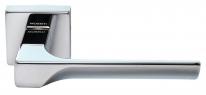Ручка дверная на квадратной розетке Morelli Luxury, Fiord Cro  Хром