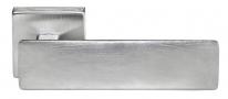 Ручка дверная на квадратной розетке Morelli Luxury, Space Csa Хром матовый