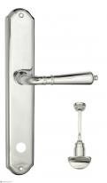 Ручка дверная на планке с фиксатором Venezia Vignole WC-2 PL02 полированный хром