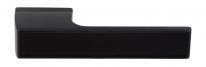 Ручка дверная на квадратной розетке Tupai Melody Vario Черный (С черной вставкой)
