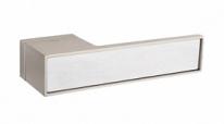 Ручка дверная на квадратной розетке Tupai Big Line Никель