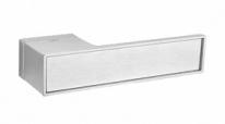 Ручка дверная на квадратной розетке Tupai Big Line Хром матовый
