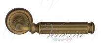 Ручка дверная на круглой розетке Venezia Mosca D1 Бронза матовая