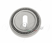 Накладка дверная под ключ буратино Venezia KEY-1 D3 натуральное серебро + черный