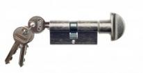 Цилиндровый механизм ключ-вертушка Venezia 25/10/35 античное серебро