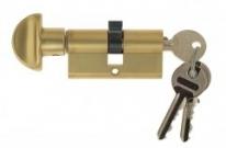 Цилиндровый механизм ключ-вертушка Venezia 25/10/35 французское золото