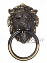 Дверная стучалка Venezia Leone 190x110 темная бронза
