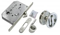 Комплект для раздвижных дверей Morelli MHS-1 WC SC, Хром матовый