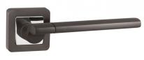 Ручка дверная на квадратной розетке Punto Galaxy QR GR/CP-23 графит/хром