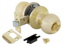 Ручка дверная кноб Punto 6072 SB-B (фик.) Золото матовое