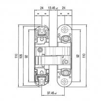 Дверная петля скрытая универсальная Venezia P101-AB античная бронза