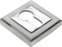 Накладка на ключевой цилиндр RUCETTI RAP KH-S SN/CP Белый никель/хром