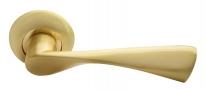 Дверные ручки RUCETTI RAP 1 SG/GP Матовое золото/золото
