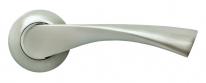 Дверные ручки RUCETTI RAP 1 SN/CP Белый никель/хром