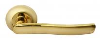 Дверные ручки RUCETTI RAP 3 SG/GP Матовое золото/золото