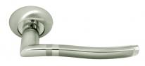 Дверные ручки RUCETTI RAP 3 SN/CP Белый никель/хром
