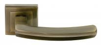 Ручка дверная на квадратной розетке Rucetti RAP 11-S AB Античная бронза