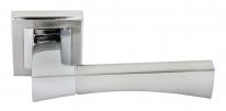 Ручка дверная на квадратной розетке Rucetti RAP 12-S SN/CP Белый никель/хром