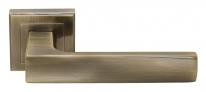 Ручка дверная на квадратной розетке Rucetti RAP 14-S AB Античная бронза