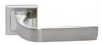 Ручка дверная на квадратной розетке Rucetti RAP 15-S SN/CP Белый никель/хром