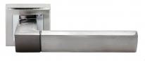 Ручка дверная на квадратной розетке Rucetti RAP 16-S SN/CP Белый никель/хром