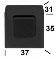 Ограничитель дверной напольный Colombo Д.37Мм Высота 35Мм Lc 112 матовый графит