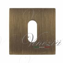 Накладка под ключ буратино на квадратном основании Fratelli Cattini KEY 8-BY матовая бронза 2 шт.
