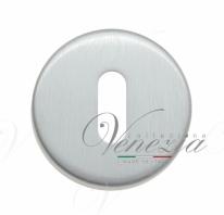 Накладка под ключ буратино на круглом основании Fratelli Cattini KEY 7-CS матовый хром 2 шт.