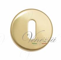 Накладка под ключ буратино на круглом основании Fratelli Cattini KEY 7-OLV полированная латунь 2 шт.