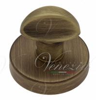 Фиксатор поворотный на круглом основании Fratelli Cattini WC 7-BY матовая бронза