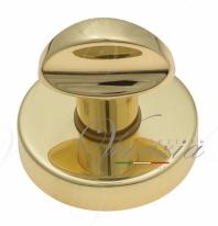 Фиксатор поворотный на круглом основании Fratelli Cattini WC 7-OLV полированная латунь