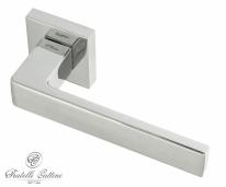 """Ручка дверная на квадратной розетке Fratelli Cattini """"BOOM"""" 8-CR полированный хром"""
