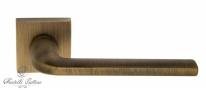 "Ручка дверная на квадратной розетке Fratelli Cattini ""LINEA"" 8-BY матовая бронза"