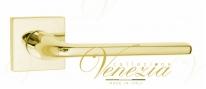 Ручка дверная на квадратной розетке Fratelli Cattini LINEA 8-OLV полированная латунь