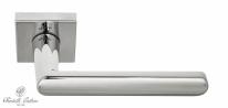 """Ручка дверная на квадратной розетке Fratelli Cattini """"NEVADA"""" 8-CR полированный хром"""