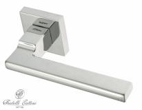 """Ручка дверная на квадратной розетке Fratelli Cattini """"SLIM"""" 8-CR полированный хром"""