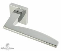 """Ручка дверная на квадратной розетке Fratelli Cattini """"TECH"""" 8-CR полированный хром"""