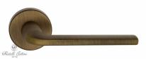 """Ручка дверная на круглой розетке Fratelli Cattini """"LINEA"""" 7-BY Бронза матовая"""