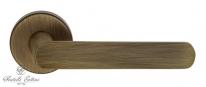 """Ручка дверная на круглой розетке Fratelli Cattini """"NEVADA"""" 7-BY Бронза матовая"""
